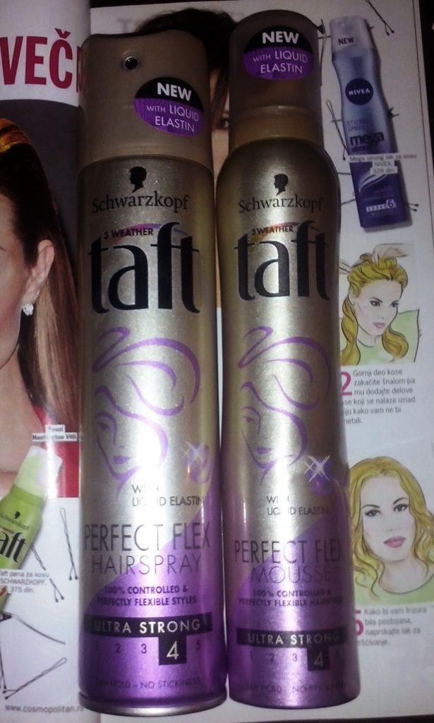 Taft Perfect Flex: Hairspray & Mousse
